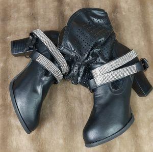Rocker studs strass boots moto style western